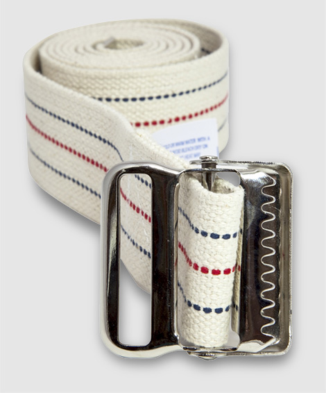 Rolled up medical gait belt