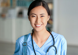 female registered nurse smiling