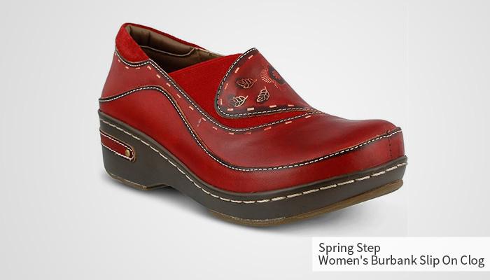spring step burbank slip on clog for women