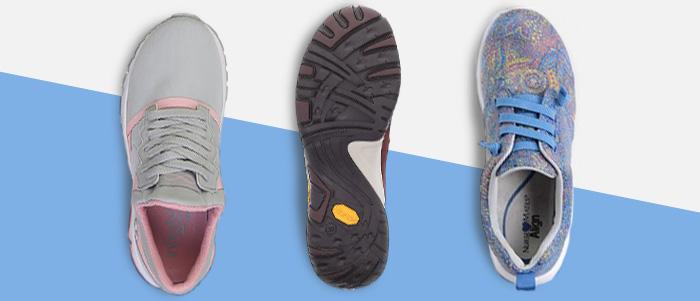 Three tennis shoe style nursing shoes