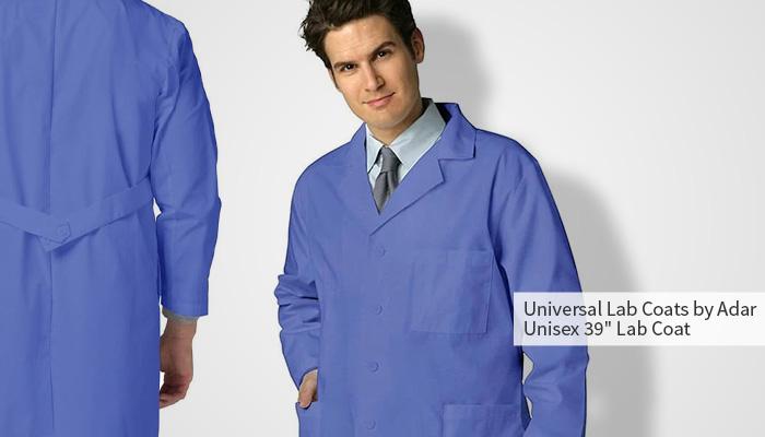 "universal lab coats by adar unisex 39"" lab coat"