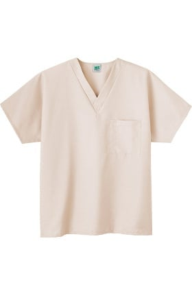 Clearance Fundamentals by White Swan Unisex V-Neck Solid Scrub Top