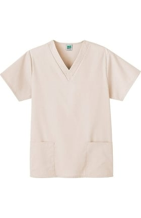 Clearance Fundamentals by White Swan Women's 2-Pocket V-Neck Solid Scrub Top