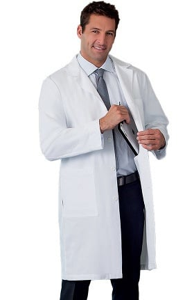 "META Labwear Men's 5-Pocket Twill 38"" Lab Coat"