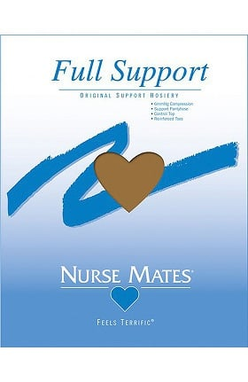 Nurse Mates Women's 6 mmHg Feels Terrific Full Support Pantyhose Hosiery