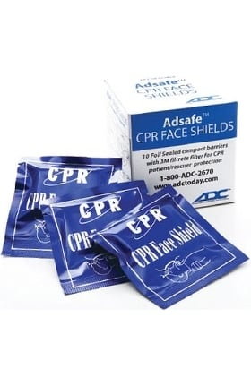 American Diagnostic Corporation Adsafe™ CPR Face Shield 10 Pack