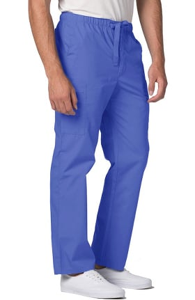 Universal Basics by Adar Men's Front Zip Tapered Leg Scrub Pant