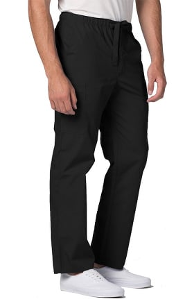 Clearance Universal Basics by Adar Men's Front Zip Tapered Leg Scrub Pant