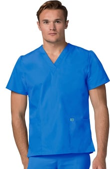 Universal Basics by Adar Unisex V-Neck Tunic Solid Scrub Top