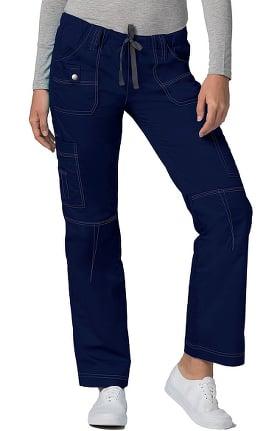 Pop Stretch Taskwear by Adar Women's Straight Leg Low Rise Cargo Scrub Pant