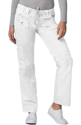 Clearance Pop Stretch Taskwear by Adar Women's Straight Leg Low Rise Cargo Scrub Pant