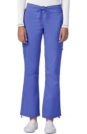 Pop Stretch Taskwear by Adar Women's Boot Cut Cargo Scrub Pant