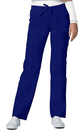 Clearance Pop Stretch Taskwear by Adar Women's Straight Leg Mid Rise Cargo Scrub Pant