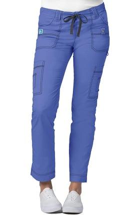 Clearance Pop Stretch Taskwear by Adar Women's Stretch Slim Cargo Scrub Pant