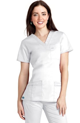 Pop Stretch Taskwear by Adar Women's V-Neck Scrub Top