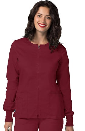 Pop Stretch Taskwear by Adar Women's Zip Front Warm Up Scrub Jacket