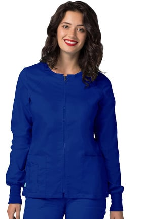 Clearance Pop Stretch Taskwear by Adar Women's Zip Front Warm Up Scrub Jacket