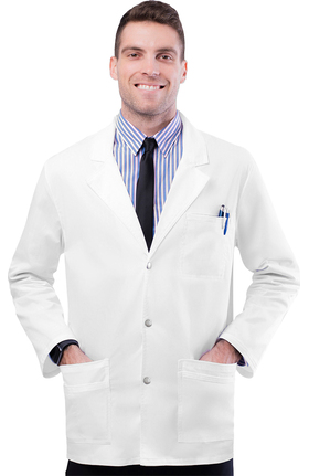 "Clearance Pop Stretch Taskwear by Adar Men's Snap Front 31"" Lab Coat"