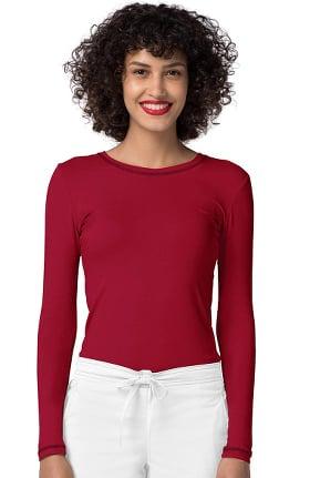 Clearance Pop Stretch Taskwear by Adar Women's Crew Neck Fitted T-Shirt
