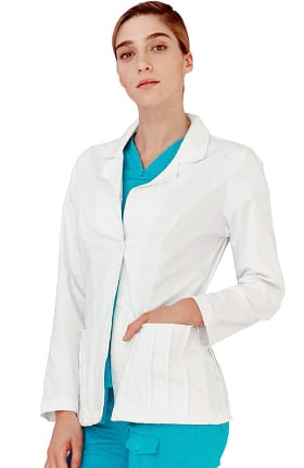 "Indulgence by Adar Women's Pin Tuck  28½"" Consulation Lab Coat"