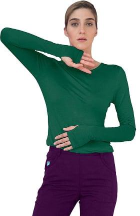 Clearance Indulgence by Adar Women's Long Sleeve Luxury T-Shirt
