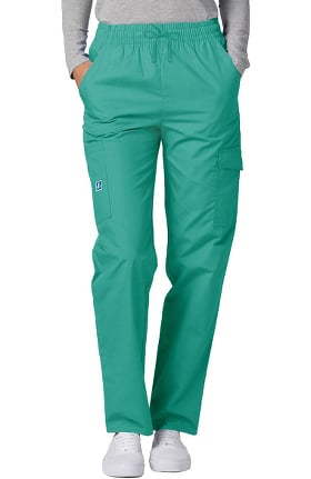 Clearance Universal Basics by Adar Women's Multi Pocket Solid Scrub Pants