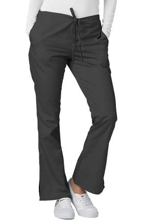 Universal Basics by Adar Women's Flare Leg Solid Scrub Pants