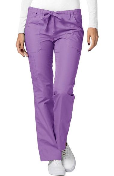 e011e6a7b37 Universal Basics by Adar Women's Split Knee Drawstring Solid Scrub Pant