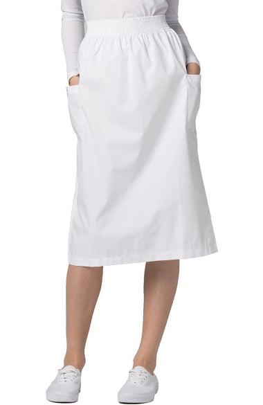 Universal Basics by Adar Women's A-Line Patch Pocket Scrub Skirt