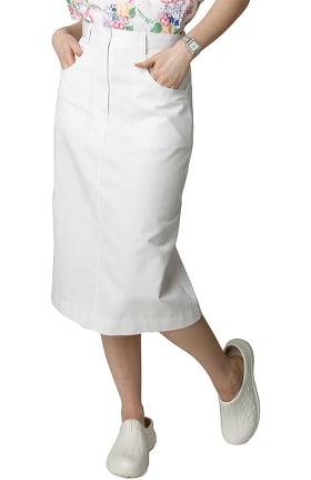 Universal Basics by Adar Women's Jean Style Scrub Skirt