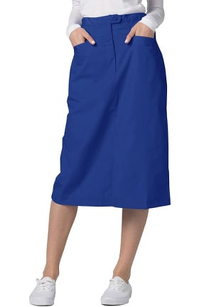 Clearance Universal Basics by Adar Women's Mid-Calf Angle Pocket Scrub Skirt