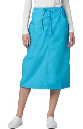 Universal Basics by Adar Women's Mid-Calf Drawstring Scrub Skirt