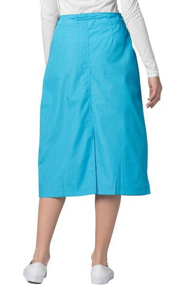 ac6764e1eb49 Universal Basics by Adar Women's Mid-Calf Drawstring Scrub Skirt. Play Video