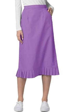 Universal Basics by Adar Women's Pleated Flounce Hem Scrub Skirt