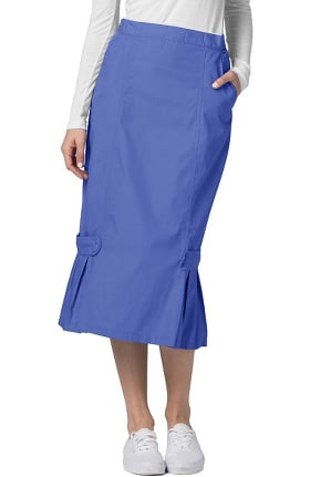 Clearance Universal Basics by Adar Women's Tabbed Pleat Panel Scrub Skirt