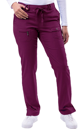 Pro by Adar Women's Slim Fit Utility Scrub Pant