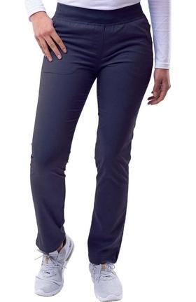 Pro by Adar Women's Elastic Waistband Skinny Scrub Pant