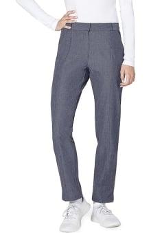 Pro by Adar Women's Melange Flat Front Trouser Scrub Pant