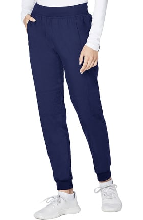 Responsive by Adar Women's Elastic Waistband Quilted Knee Jogger Scrub Pant