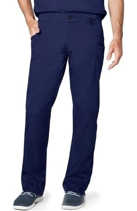 Responsive by Adar Men's Zip Fly Easy Fit Tech Scrub Pant