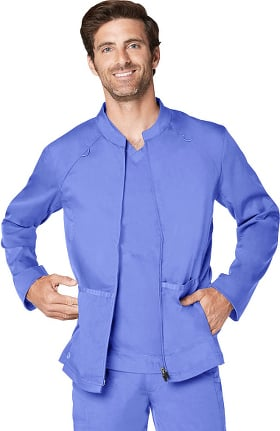 Clearance Responsive by Adar Men's Active Zip Front Solid Scrub Jacket