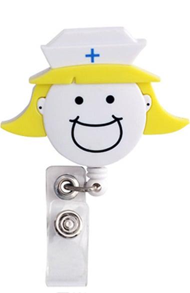 Scrub Stuff Women's Nurse Head Retractable Badge Holder