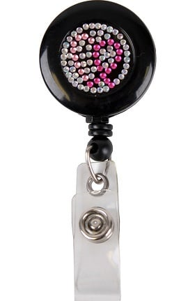 Scrub Stuff Breast Cancer Awareness Bling Retractable Badge Reel