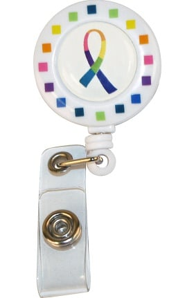 Scrub Stuff Multi Color Ribbon Badge Holder Retractable