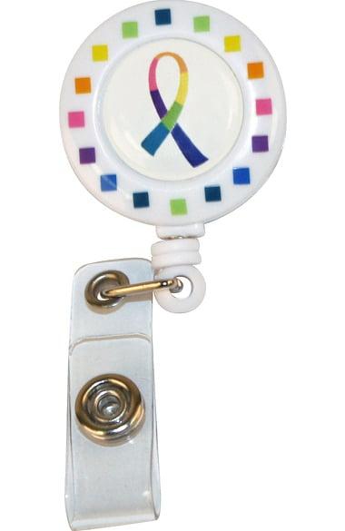 Scrub Stuff Multi Color Ribbon Badge Holder Retractable
