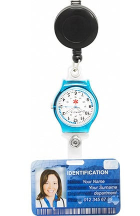 Scrub Stuff Retractable ID Badge Reel Clip Watch