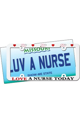 Scrub Stuff License Plate Frame