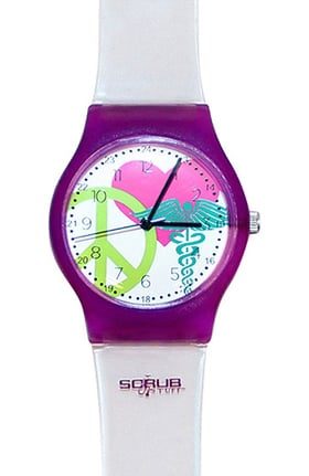 Scrub Stuff Women's Peace Love Jelly Watch
