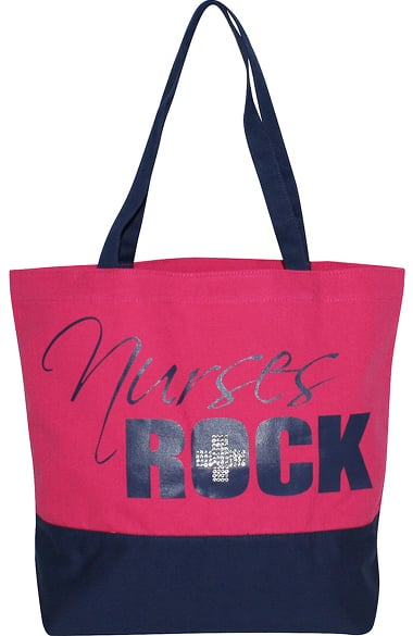 Scrub Stuff Women's Nurses Rock Bling Canvas Tote Bag