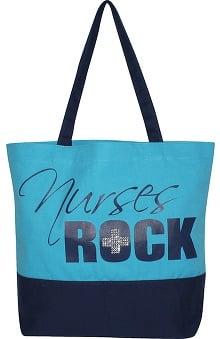 Scrub Stuff Women's Nurses Rock Bling Canvas Tote Bag
